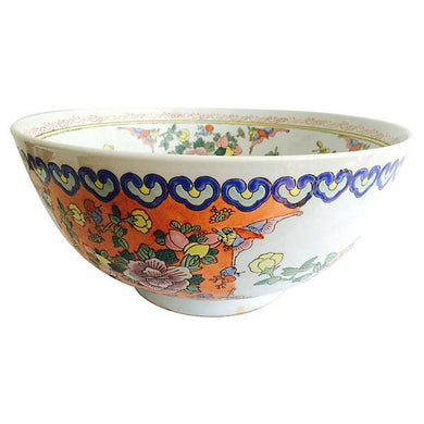 Large Chinese Botanical Bowl