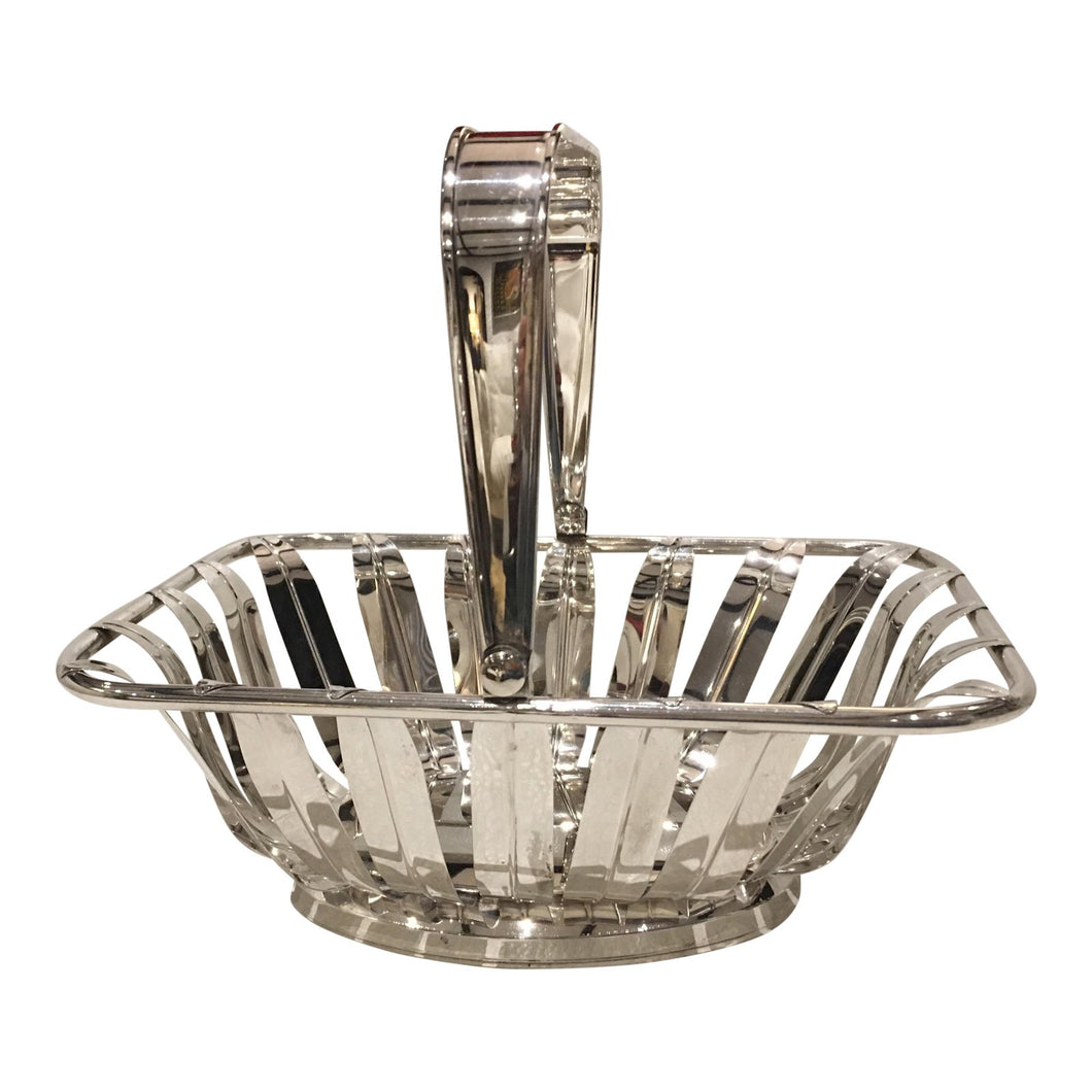 Leaf Silverplate Bread Basket