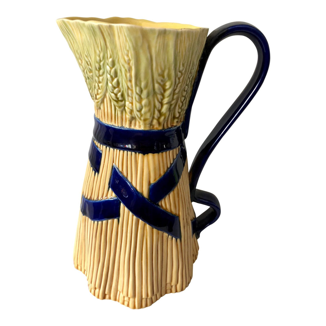 Majolica Sheaf of Wheat Pitcher