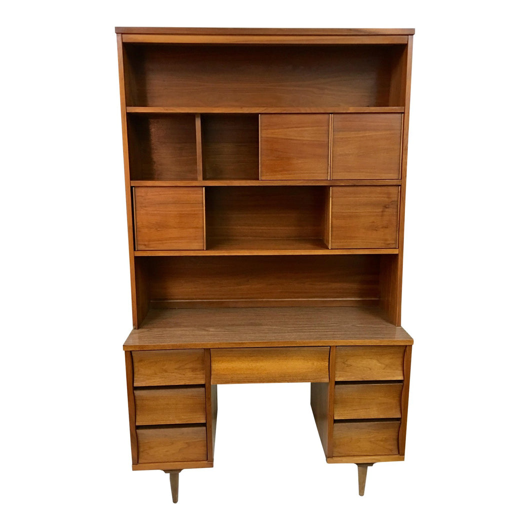 Mid-Century Desk & Hutch