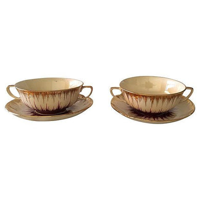 Mid-Century English Soup Bowls - Pair