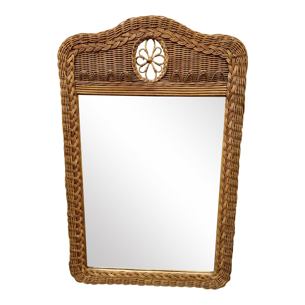Natural Wicker Lexington Mirror