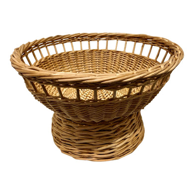 Rattan Footed Basket