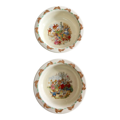 Royal Doulton Bunnies Children Bowls - a Pair
