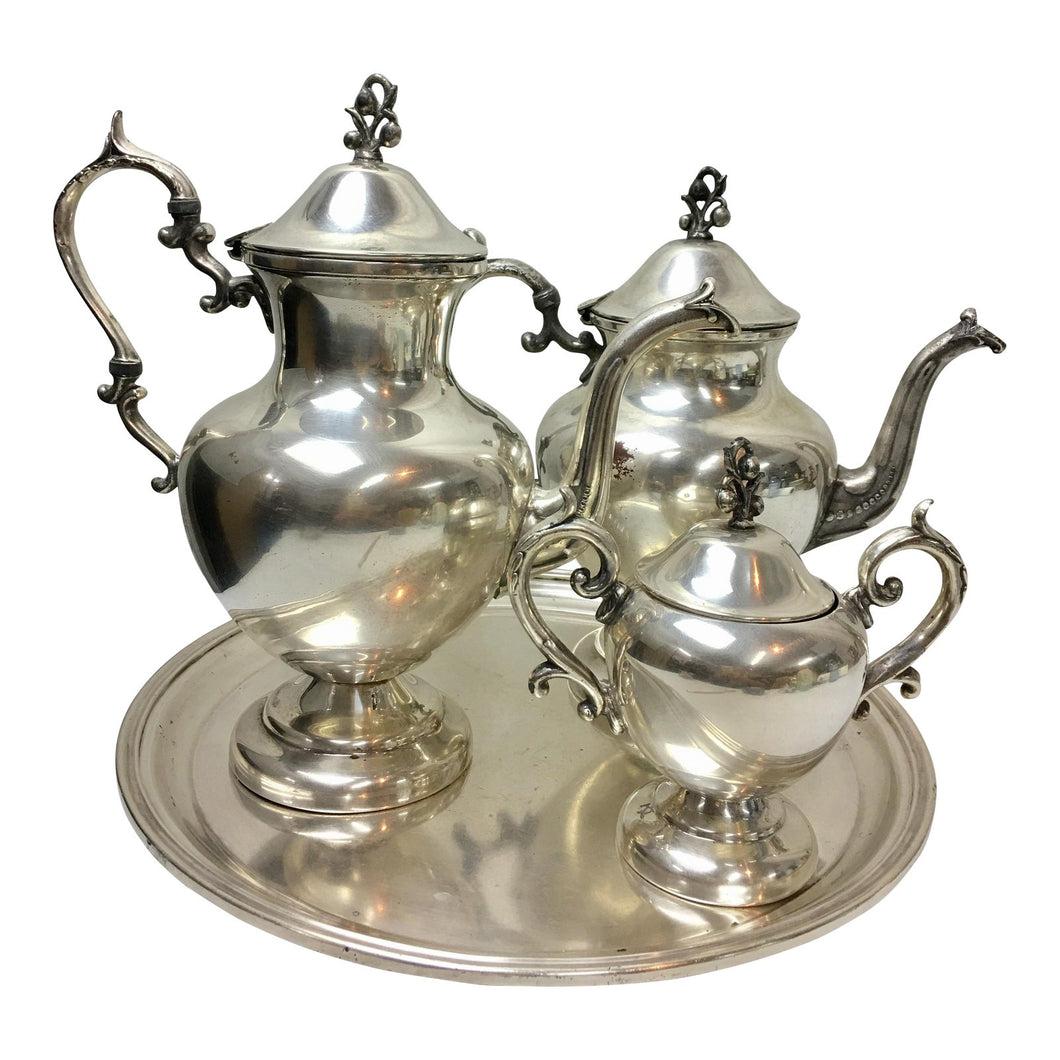 Sheraton Hotels Silver-Plate Tea & Coffee Set - Set of 4