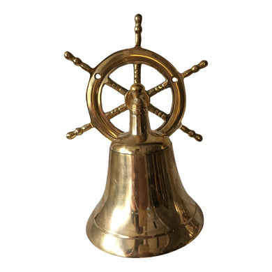 Solid Brass Ship Steering Wheel Bell