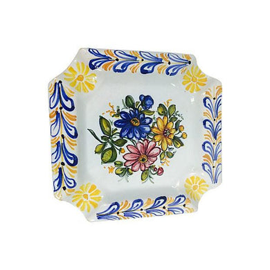 Spanish Painted Talavera Ashtray