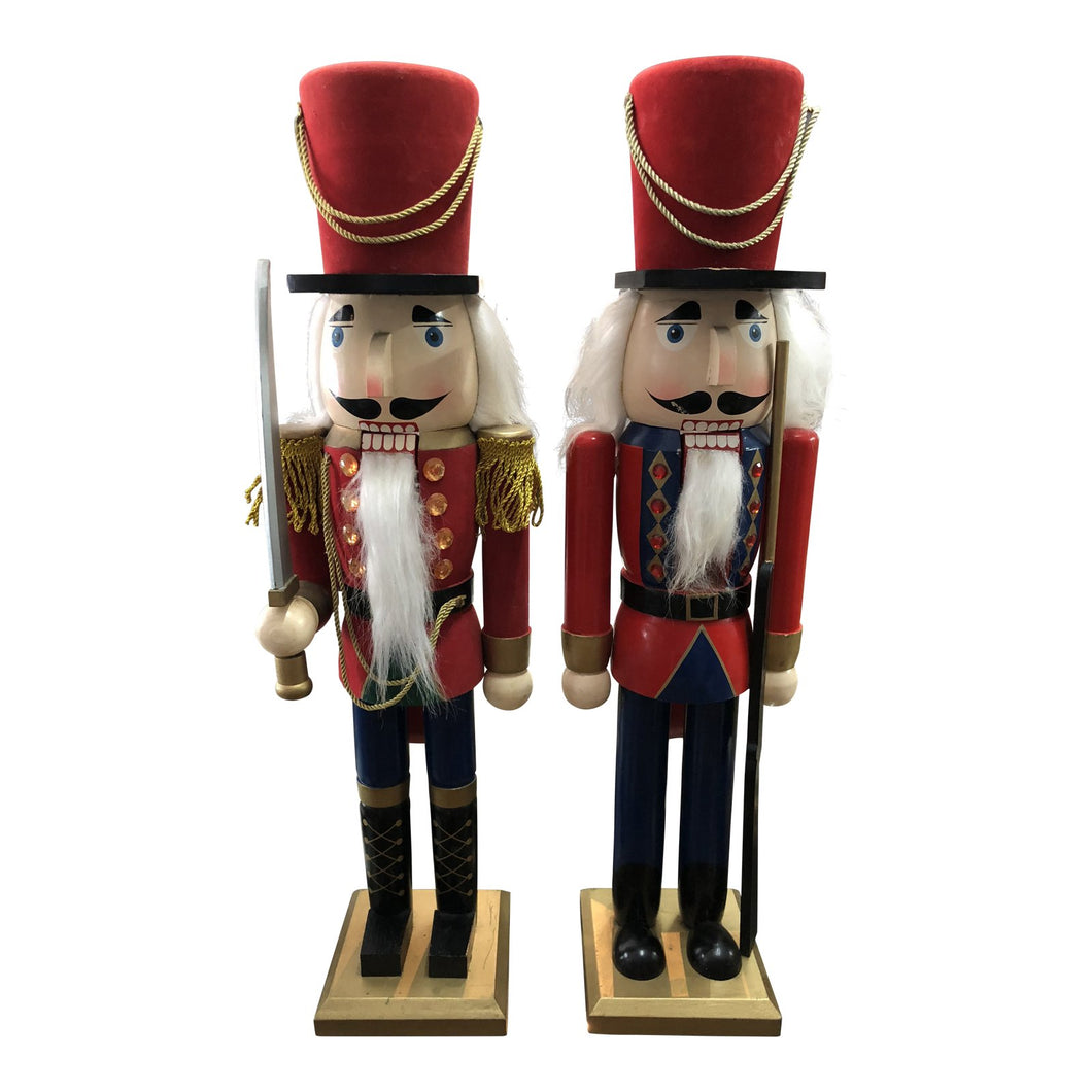 Tall Vintage Nutcrackers, Pair