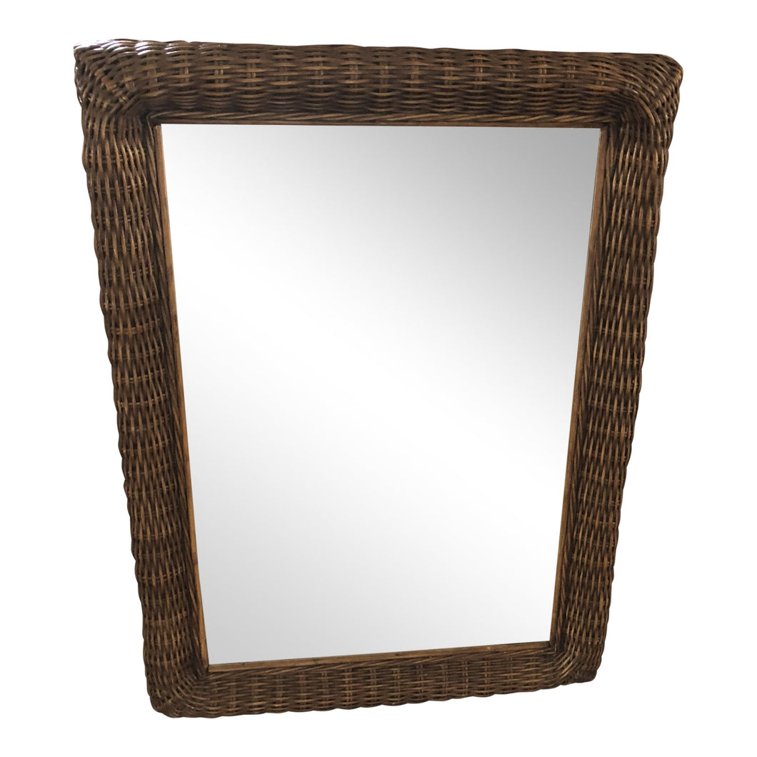 Wicker & Wood Mirror