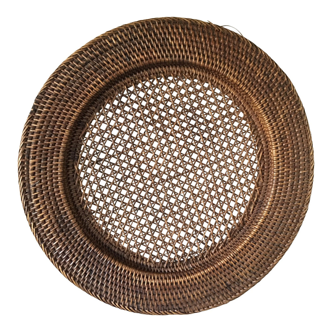 Wicker Large Round Plate
