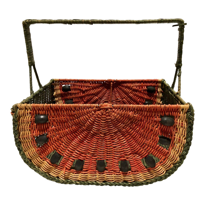 Wicker Watermelon Shaped Basket