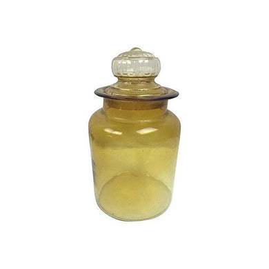 Yellow French Handblown Jar