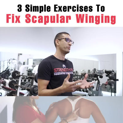 3 Exercises To Fix Scapular Winging