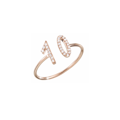 Made to celebrate an anniversary or to let a loved one know how much you appreciate. This Oliver Heemeyer ring is handcrafted of 18k rose gold and set with 25 diamonds.