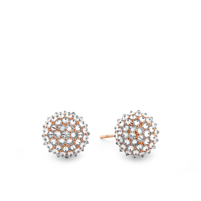 Oliver Heemeyer Abnora Diamond Ear Studs made of 18k rose gold.