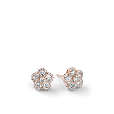 Oliver Heemeyer Alemandro diamond ear studs 5 in 18k rose gold.