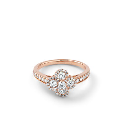 Oliver Heemeyer Alemandro diamond ring 4 in 18 rose gold.