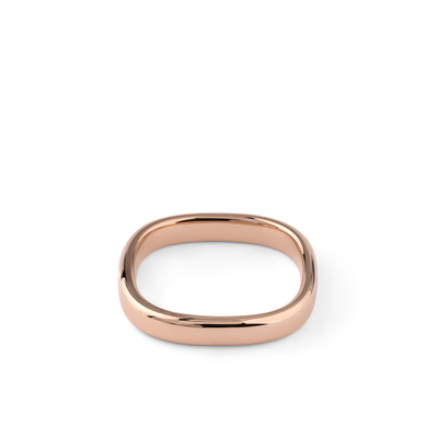 Oliver Heemeyer Bolero Wedding Band 3,0 mm made of 18k rose gold.
