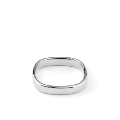 Oliver Heemeyer Bolero Wedding Band 4,0 mm made of 18k white gold.