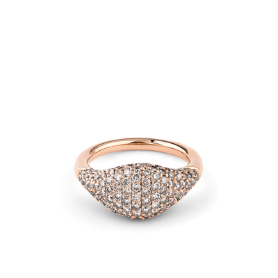 Oliver Heemeyer Cavalier Brown diamond ring in 18k rose gold.