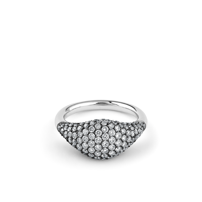 Oliver Heemeyer Cavalier Grey diamond ring in 18k white gold.