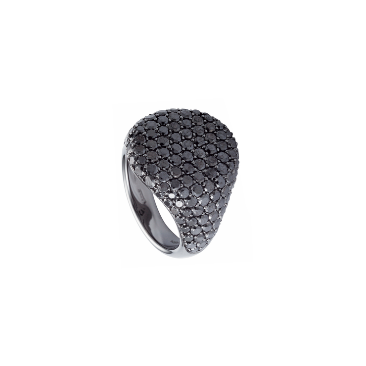 Cavalier Pavé Set Diamond Ring