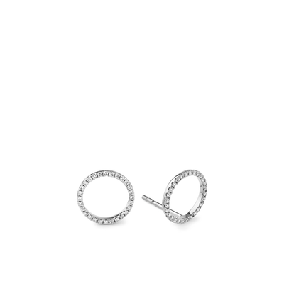 Oliver Heemeyer Circle of Life Diamond Ear Studs L made of 18k white gold.