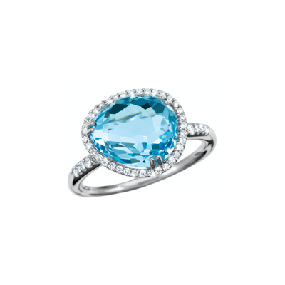 Oliver Heemeyer Cocktail Ring Swiss Blue Topaz.