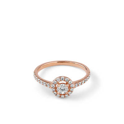 Oliver Heemeyer Cora Diamond Ring Brilliant Cut made of 18k rose gold.