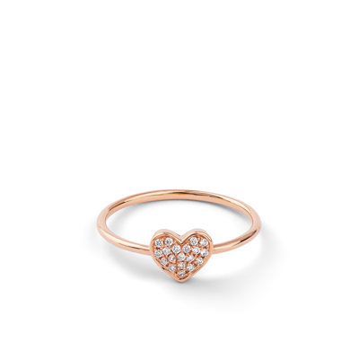 Oliver Heemeyer Emilia Heart diamond ring 18k rose gold.