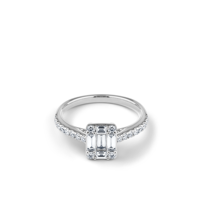 Oliver Heemeyer Harper Diamond Ring in 18k white gold.
