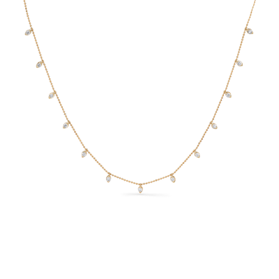 Oliver Heemeyer Joya Diamond Necklace made of 18k yellow gold.