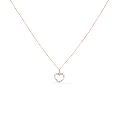 Oliver Heemeyer Kate Heart Diamond Necklace in 18k rose gold.