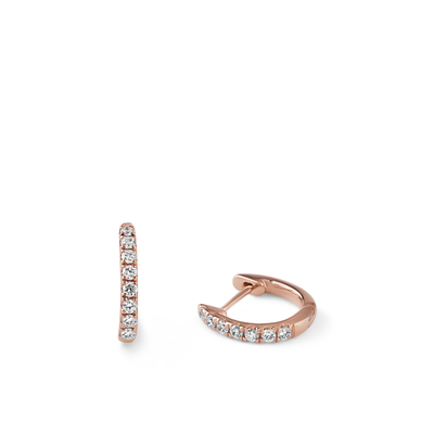 Oliver Heemeyer Kate Mini Diamond Hoops 9,0 mm made of 18k rose gold.
