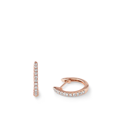 Oliver Heemeyer Kate Mini Diamond Hoops 11,0 mm made of 18k rose gold.