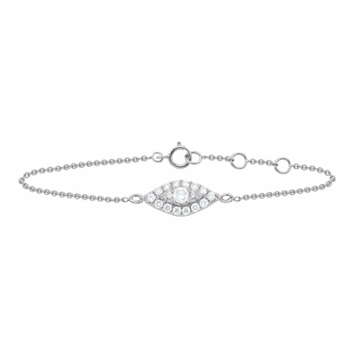 Oliver Heemeyer Mia diamond bracelet in 18k white gold.