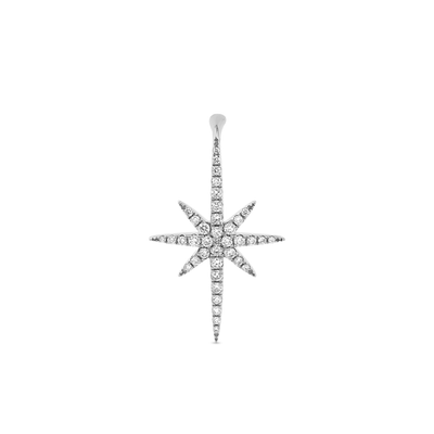 Oliver Heemeyer North Star Diamond Ear Stud made of 18k white gold.