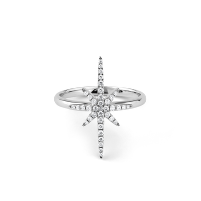 Oliver Heemeyer North Star Diamond Ring made of 18k white gold.