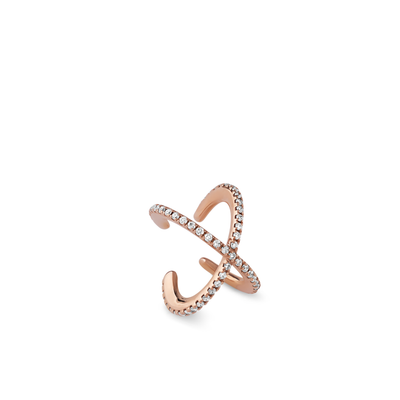 Oliver Heemeyer Orbit Diamond Ear Cuff made of 18k rose gold.