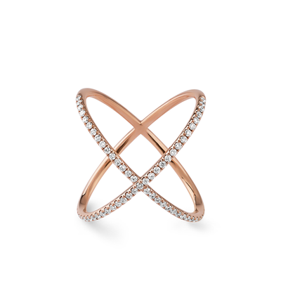 Oliver Heemeyer Orbit Diamond Ring HC made of 18k rose gold.