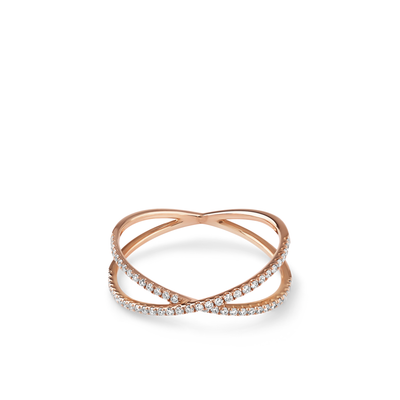 Oliver Heemeyer Orbit Diamond Ring Small made of 18k rose gold.
