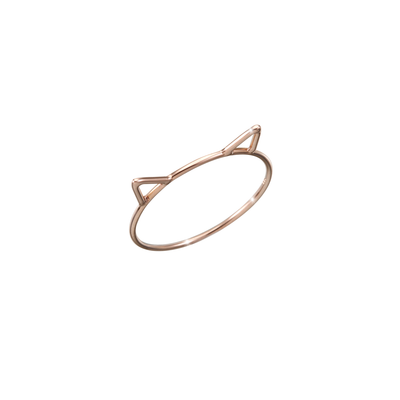 Playful, subtle and discreet in size and design.  Made of 18k rose gold and carefully handcrafted, the Oliver Heemeyer Cat ring is a charming present for loved one or yourself.