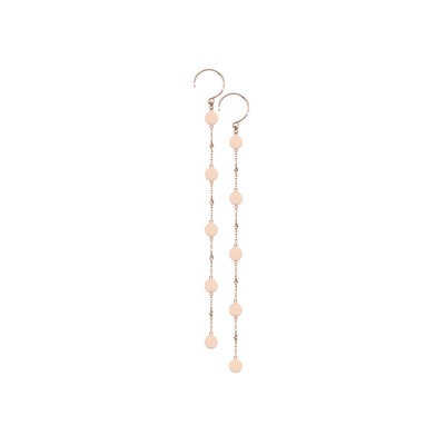 This delicate pair of Oliver Heemeyer gold earrings is a discreet yet elegant everyday jewellery piece. Made of 18k rose gold and carefully handcrafted.