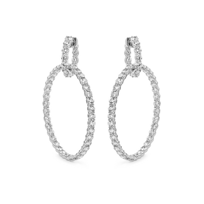 Oliver Heemeyer St. Tropez Diamond Hoops made of 18k white gold.