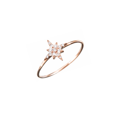 Adorned with subtle diamonds and made out of 18k rose gold, the Oliver Heemeyer Stella diamond ring is an excellent choice of diamond jewellery for everyday.