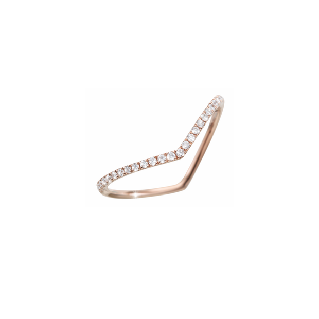 V Diamant Ring