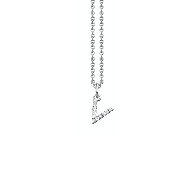 Letter Diamond Necklace