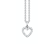 Oliver Heemeyer Open Heart diamond pendant designed in 18k white gold and adorned with 18 sparkling diamonds. This necklace makes a beautiful present for a loved one.
