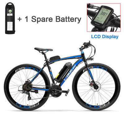 RS600 Powerful Electric Bike, 36V 20A Battery Ebike,700C Road Bicycle, Both Disc Brake, Aluminum Alloy Frame, Mountain Bike