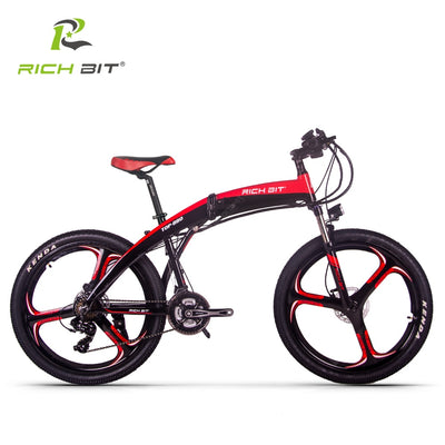 RICH BIT RT-880 36v 250w 9.6Ah Black Red Electric 26inch Foldable Ebike e-bike bicycle folding e electric bike With TEKTRO Hydraulic Disc Brake